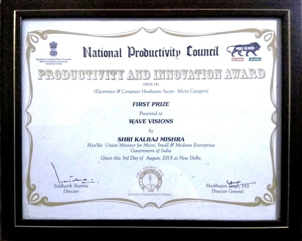 Wave Award Certificate English